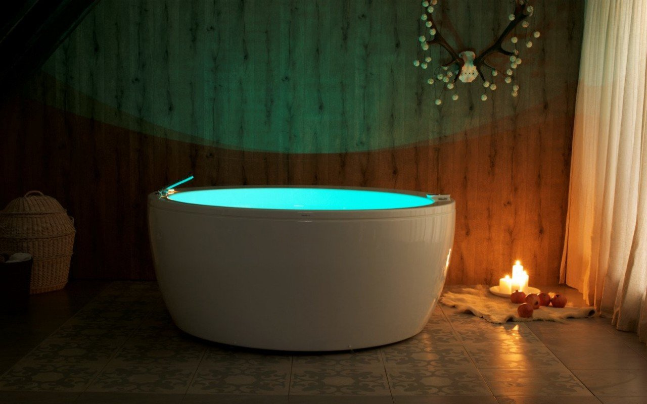 حوض أستحمام باميللا ريلاكس -أبيض بنظام تدليك هوائي من مادة الأكريلك picture № 0