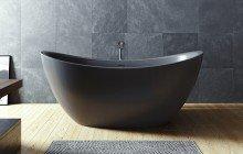 Purescape 171 Black Freestanding Slipper Bathtub web (4)