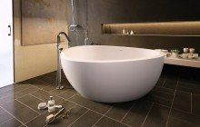 Trinity wht freestanding light weight cast stone bath fine matte by Aquatica 01 1 (web)
